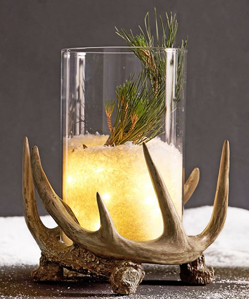 Antler Decorative Candle