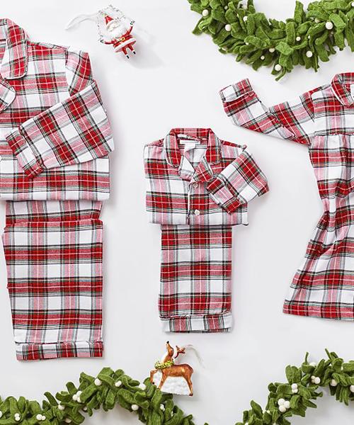 Plaid Holiday Family Pajamas