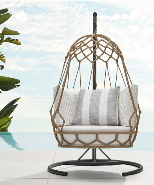 Marina Outdoor Hanging Chair With Stand