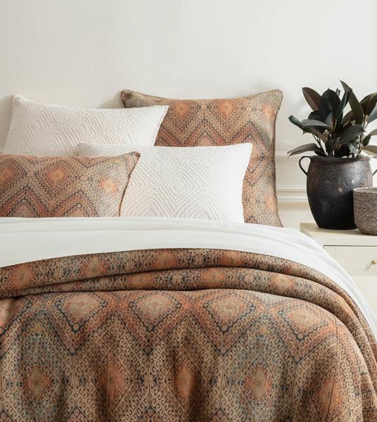 Rustic Brown Linen Duvet Cover