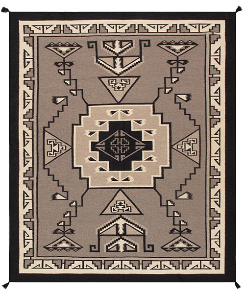 Pasargad Southwestern Flatweave Wool Rug