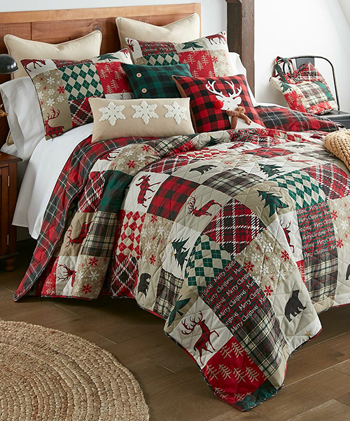 Cabin Christmas Bedding